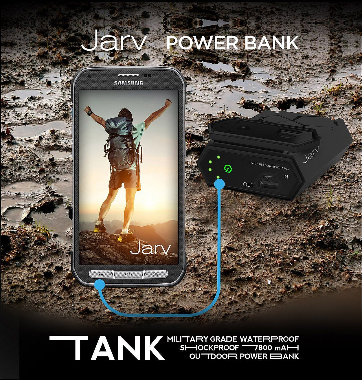Jarv Tank Ip67 Military Grade Waterproof Shockproof 7800