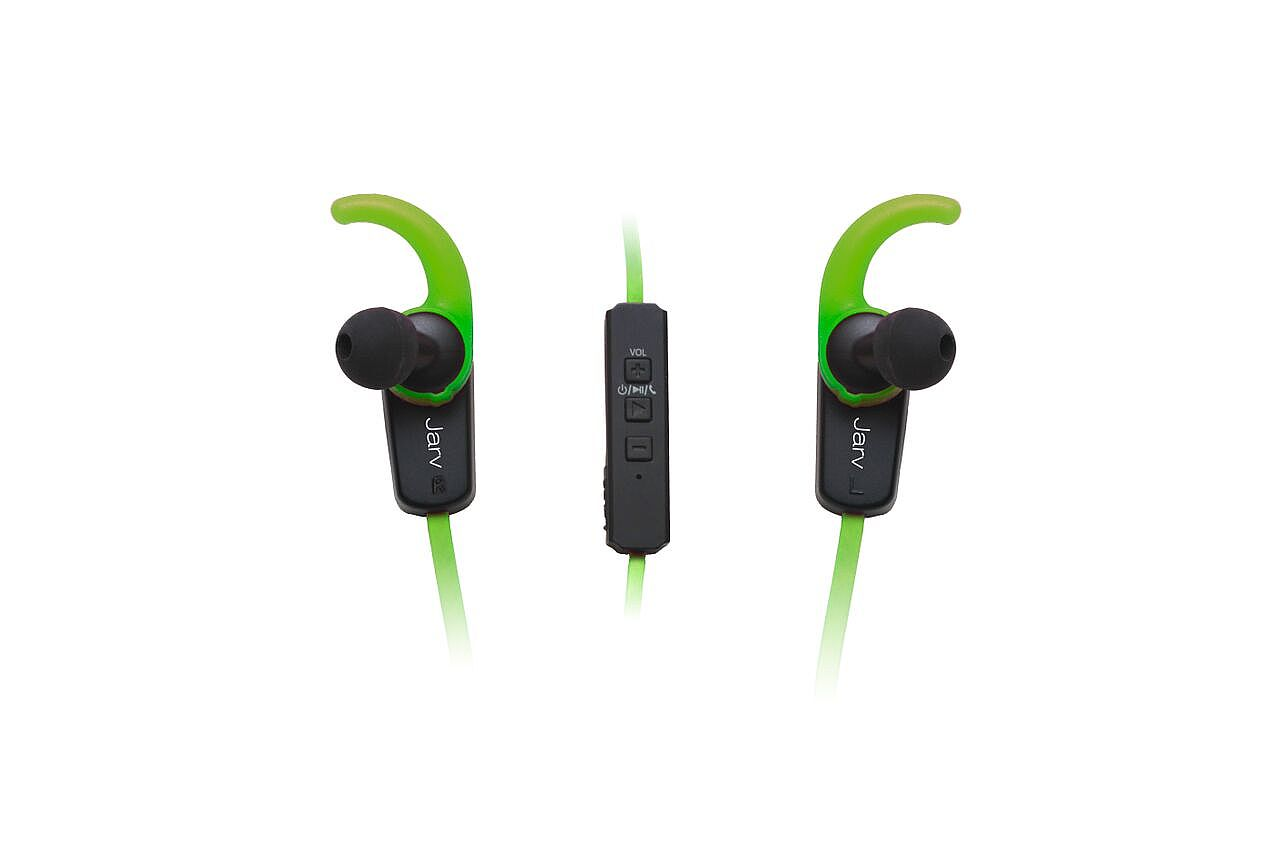 jarv nmotion plus sport wireless bluetooth 4 0 stereo earbuds with built in microphone green. Black Bedroom Furniture Sets. Home Design Ideas