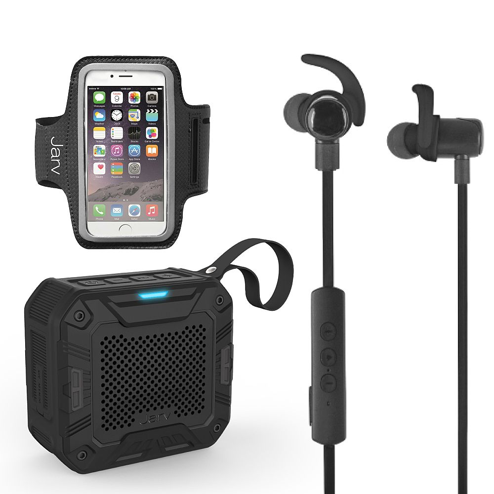 jarv nmotion excel sports bundle with bluetooth 4 0 earbuds universal sports armband rugged. Black Bedroom Furniture Sets. Home Design Ideas